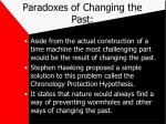 paradoxes of changing the past