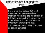 paradoxes of changing the past28