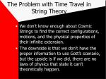 the problem with time travel in string theory