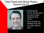 time travel and string theory richard gott iii