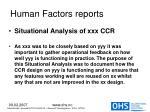 human factors reports39