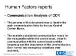human factors reports41
