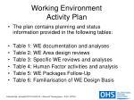 working environment activity plan18