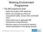 working environment programme12