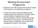 working environment programme14