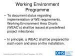 working environment programme15