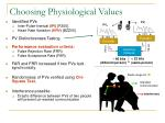 choosing physiological values