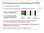 communication scheduling for pvs