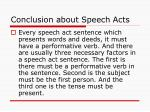 conclusion about speech acts