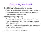 data mining continued10