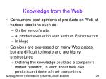 knowledge from the web