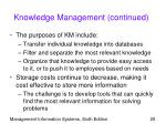 knowledge management continued