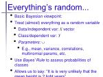 everything s random