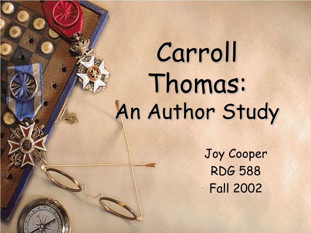 carroll thomas an author study l.