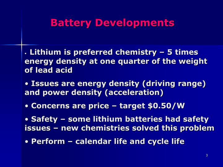 Battery developments