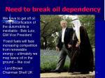 need to break oil dependency