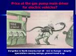 price at the gas pump main driver for electric vehicles