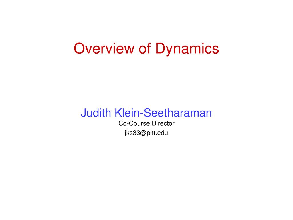 overview of dynamics l.