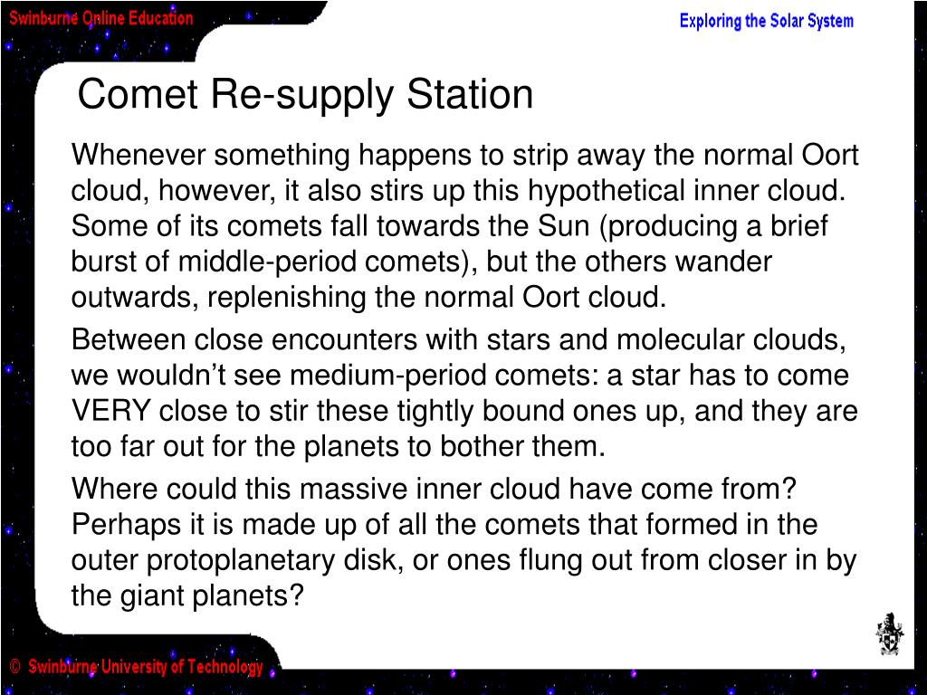 Comet Re-supply Station
