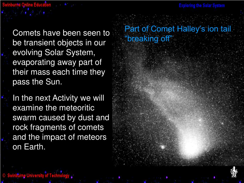 Part of Comet Halley's ion tail