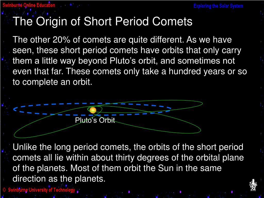 The Origin of Short Period Comets