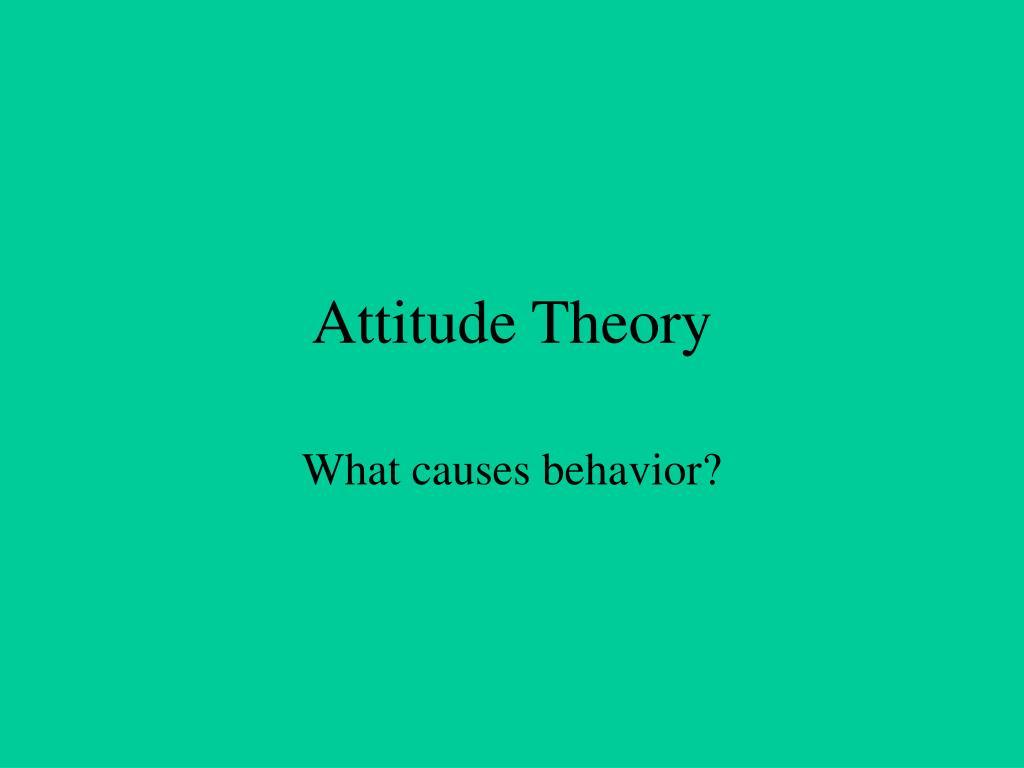 attitude theory l.