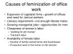 causes of feminization of office work