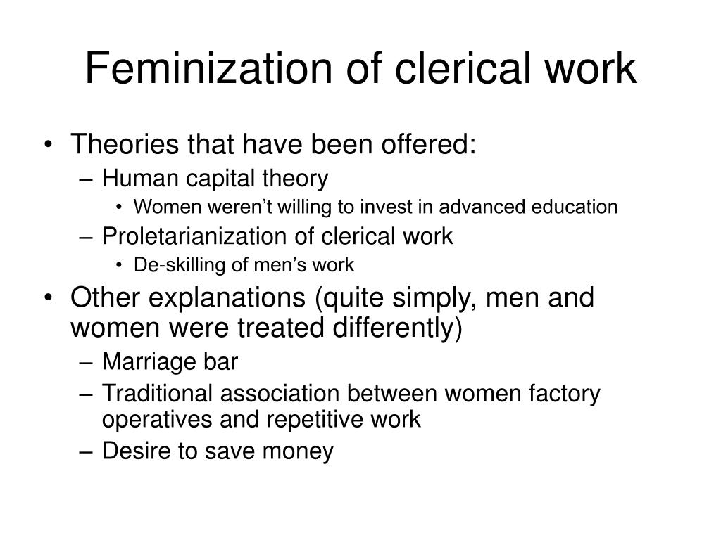 feminization of clerical work l.