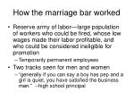 how the marriage bar worked