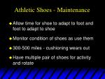 athletic shoes maintenance