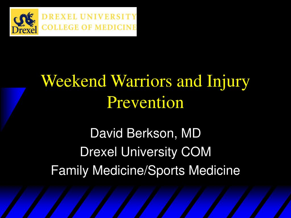 weekend warriors and injury prevention l.