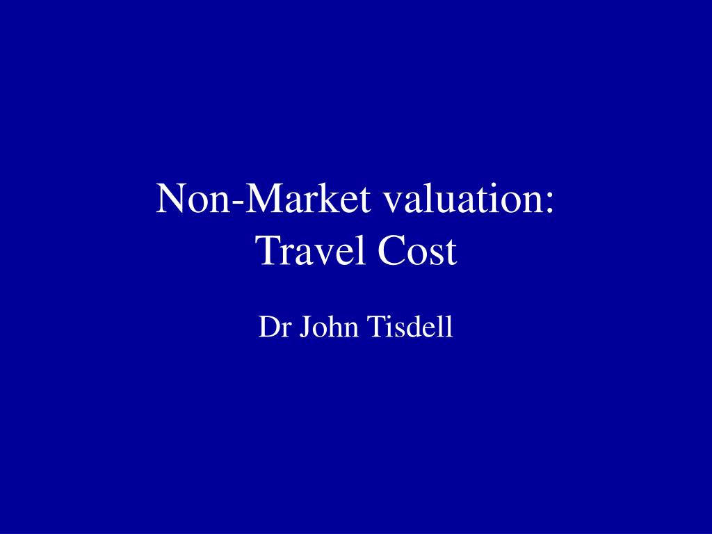 non market valuation travel cost l.