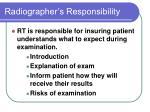 radiographer s responsibility