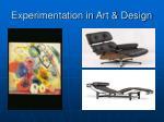 experimentation in art design
