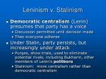 leninism v stalinism