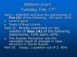 midterm exam tuesday feb 17 th25