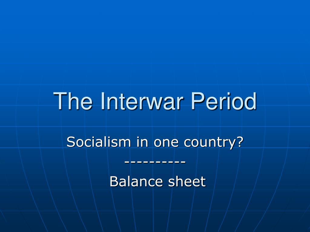 the interwar period l.