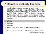 automobile liability example 1
