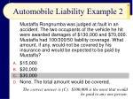 automobile liability example 2