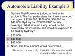 automobile liability example 3