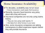 home insurance availability