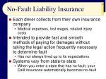 no fault liability insurance