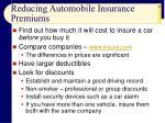 reducing automobile insurance premiums