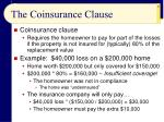 the coinsurance clause