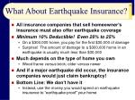what about earthquake insurance