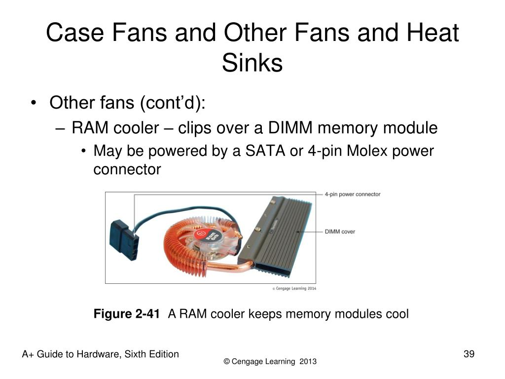 Case Fans and Other Fans and Heat Sinks