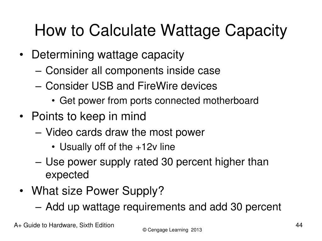 How to Calculate Wattage Capacity