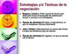 estrategias y o t cticas de la negociaci n21