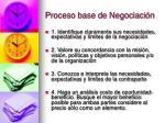 proceso base de negociaci n