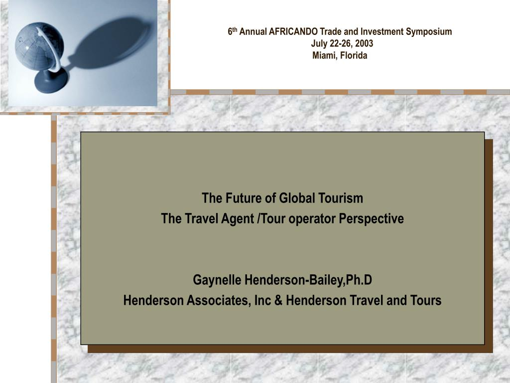 6 th annual africando trade and investment symposium july 22 26 2003 miami florida l.